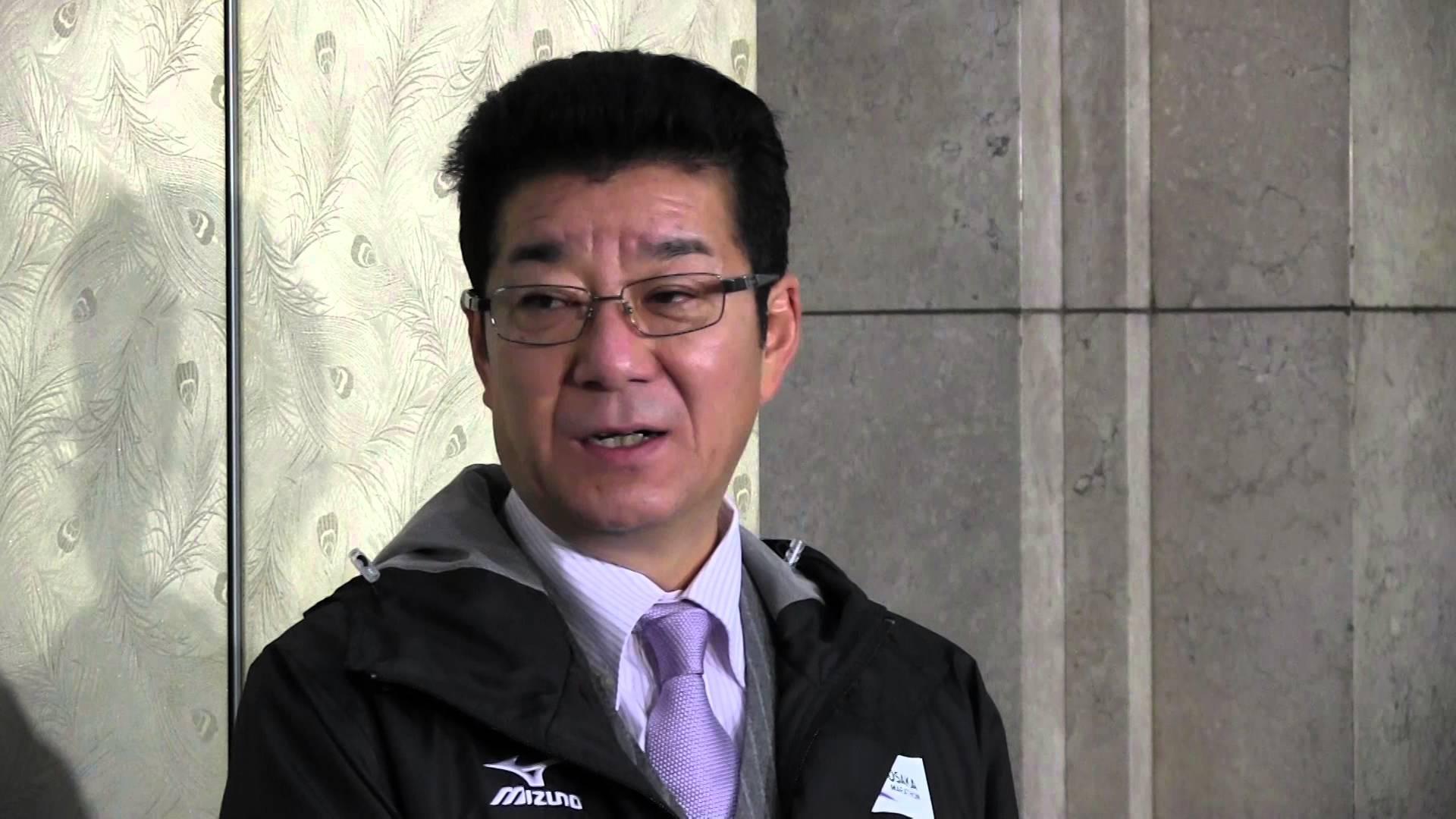 松井知事「民主党、嫌がらせイジメ、子供じみている」 ぶら下がり会見 2016.1.8