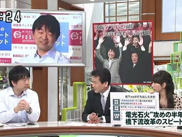 6/23 読売テレビ「ウェークアップ+」 橋下大阪市長 生出演 動画