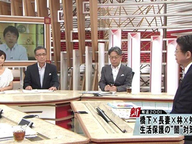 7/8 橋下大阪市長生出演 「新報道2001」 動画