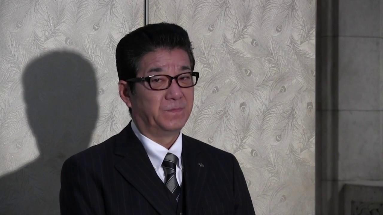 松井知事「給料返せ!ドロボー!(審議拒否の民進党に対して)」登庁会見 2016.11.9